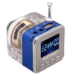 Docooler Mini FM Radio MP3/4 Player TF USB Disk Speaker Digi