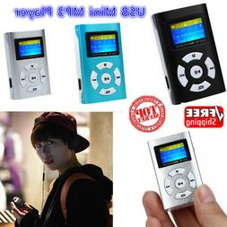 Mini Metal MP3 Player USB Rechargeable LCD Screen Support 32