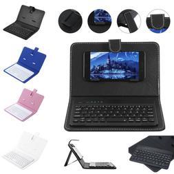 Mini Portable Leather Wireless Blueteeth Keyboard for iPhone