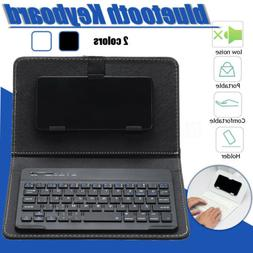 Mini Portable Leather Wireless bluetooth Keyboard for iPhone