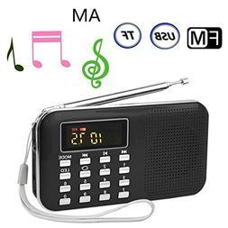 Mini Portable Pocket Radio Speaker Am Fm Usb Mp3 Music Playe