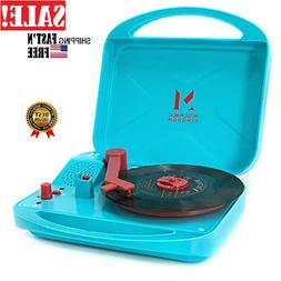 Mini Record Player Suitcase Turntable 2-Speed in Stereo Spea