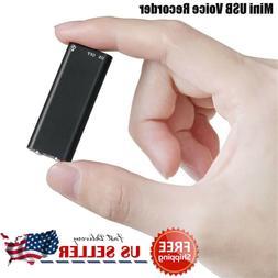 Mini Spy Audio Recorder Voice Listening Device 96 Hours 8GB