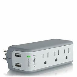 Mini Surge 3out Wall Mount W/ Usb Charger Retail Packaging