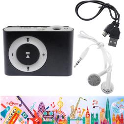 MP3 Music Player Mini Metal Clip Support 32GB Micro SD TF Ca