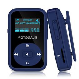MP3 Player 8GB Bluetooth KLANTOP Digital Clip Music Player w