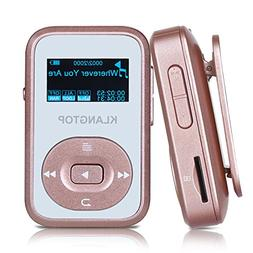 MP3 Player 8GB Bluetooth KLANTOP Digital Clip Music Player w