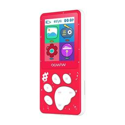 Wiwoo Mp3 Player For Kids,Portable 8Gb Mic Player With Fm