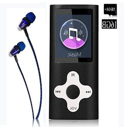 MP3 Player/Music Player,Frehovy 16GB TF Card Portable Digita
