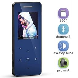 MP3 Player with Bluetooth 4.1, MayBest 16GB Music Player wit