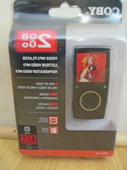"Coby MP601-2G  Video Mp3 Player 1.4"" w FM tuner 2GB NEW, SEA"