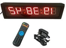 GANXIN Multifunctional 2.3'' High 6 Digits LED Wall Clock, W
