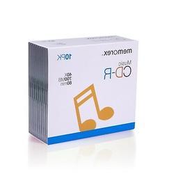 MEMOREX MUSIC CD-R MEDIA 700MB 80 MINUTE 40X 10 PACK with SL