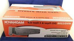 Magnavox MWD2206 DVD Player & 4 Head VCR VHS Recorder Combo