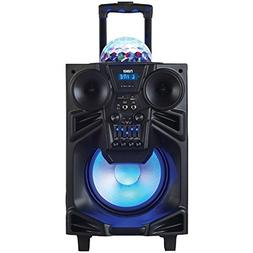 NAXA Electronics NDS-1001 Portable DJ Speaker with Lights