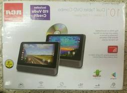 """New RCA Dual Tablet Dvd Combo 2 Tablets 1 Dvd Player 10"""" Scr"""