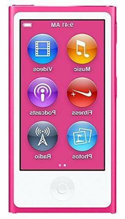 NEW Apple iPod Nano 7th Generation 16GB Pink 16 GB i Pod MP3