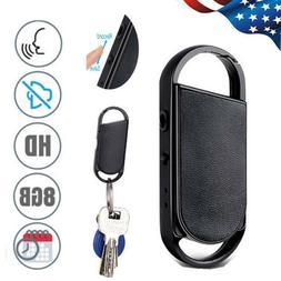 NEW Mini Spy 8GB Keychain Voice Activated Sound Audio Record