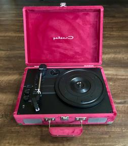 NEW Crosley Pink  Velvet Bluetooth Record Player bought at U
