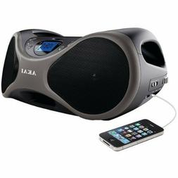 New Akai Portable Stereo CD Player BoomBox FM Radio AUX-IN L