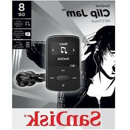 NEW SanDisk Sansa Clip Jam 8GB BLACK MP3 Player FM Radio Mus