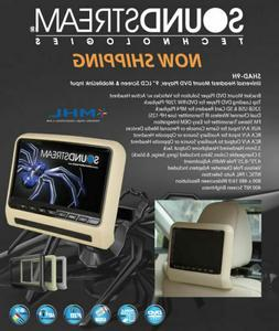 """NEW Soundstream SHAD-9H 9"""" For ACTIVE Headrest Monitor DVD P"""
