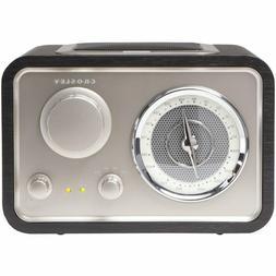 NEW Crosley Solo AM/FM Radio Receiver CR3003A-BK BLACK Stalg