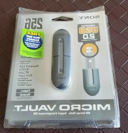 NEW Vintage Sony Micro Vault USB Flash Drive 2.0 256 MB Stor