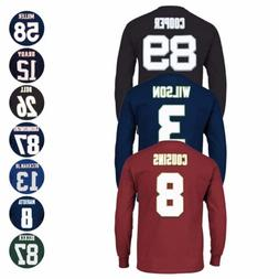 """NFL Majestic """"Eligible Receiver"""" Player Jersey Long Sleeve T"""