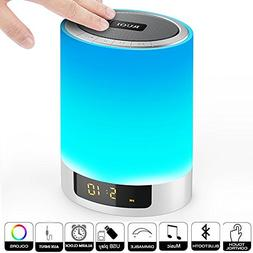 Night Lights Bluetooth Speaker, Ruoi Touch Sensor LED Bedsid