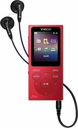 SONY NW-E393 WALKMAN MP3 PLAYER WITH FM RADIO, 4 GB RED –
