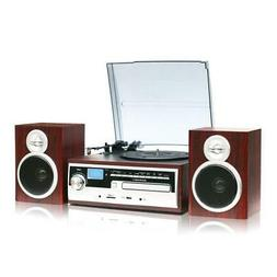 TechPlay ODC38WD Record Turntable Stereo Speaker System Blue