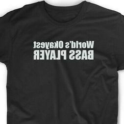 Okayest Bass Player T Shirt Bassist Funny Tee Music Musician