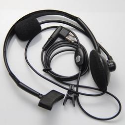 2 Pin Overhead Earpiece Headset Boom Mic Microphone Noise Ca