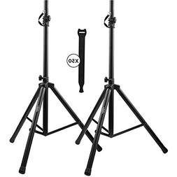 Pa Speaker Stands Pair Pro Adjustable Height with 50 Cable T