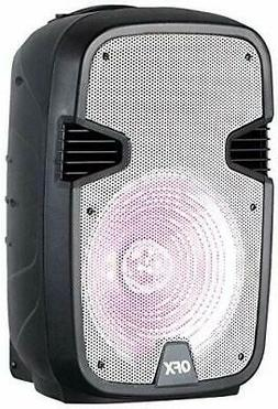 """QFX PBX-1205-WH Rechargeable 12"""" Party Speaker with Stand an"""