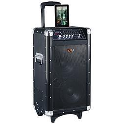 QFX PBX-3080BT Rechargeable Bluetooth Party PA Speaker  elec