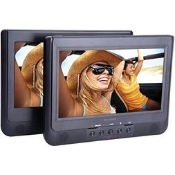 "PROSCAN PDVD1034 10.1"" Dual-Screen Portable DVD Player"