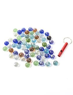 POPLAY 50 PCS Beautiful Player Marbles Bulk For Marble Games