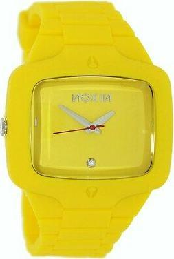 NIXON PLAYER Rubber Wrist Watch - A139 620 00 - Fluro Yellow