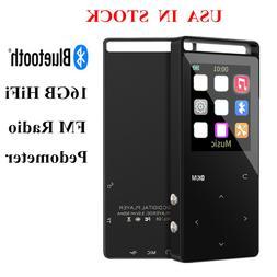 Portable 16GB Bluetooth MP3 Player HiFi Lossless Music Audio