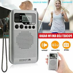 Portable AM FM Radio Battery Operated Radio Pocket Transisto