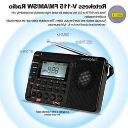 Retekess Portable AM/FM/SW Stereo Radio W/ Sleep Timer Bass