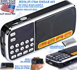 PORTABLE BATTERY OPERATED RADIO KITCHEN MP3 PLAYER CAMPING E