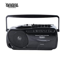 Portable Boombox Tape Cassette Player Recorder with AM/FM Ra