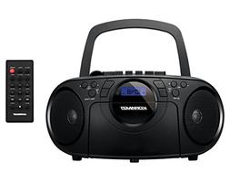 Koramzi Portable CD Boombox Full Range Stereo Sound System w