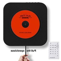 Portable CD Player, Rofeer Bluetooth Wall Mountable CD Music