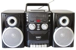 Portable CD Player AM FM Radio Cassette Detachable Speakers