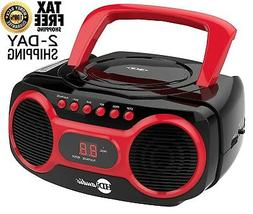 Portable CD Player Sport Stereo With Am/Fm Radio Aux Line Bo