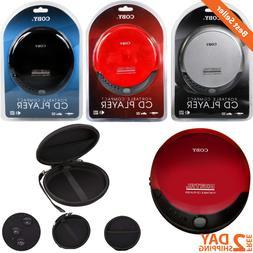 Portable Compact CD Player 3.5mm Headphone Jack Music Bass B